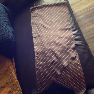 Brown Coach silk scarf